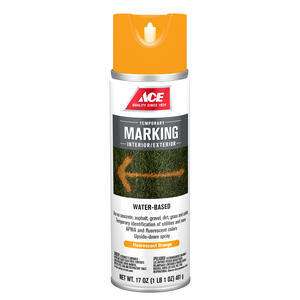 Ace  Water-Based  Orange  Field Marking Chalk  17 oz.