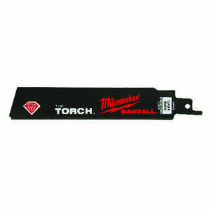 Milwaukee  The Torch  6 in. L x 1 in. W Diamond Grit  Reciprocating Saw Blade  1 pk
