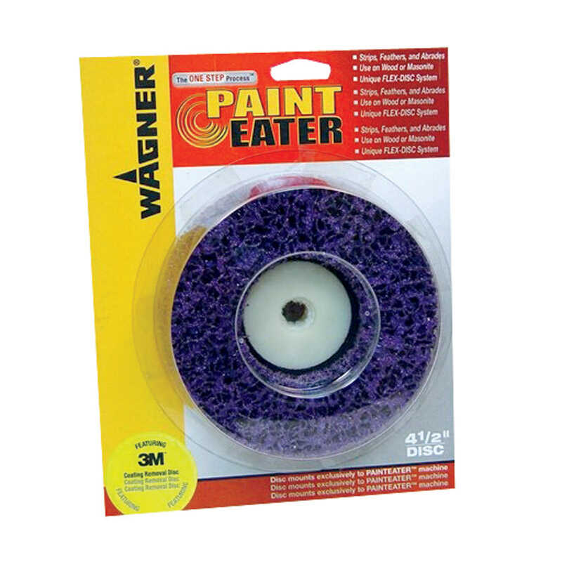 Wagner  Aluminum Oxide  Center Mount  100 Grit Medium  1 pk Paint Eater Pads  3.5 in.