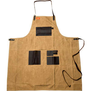 Traeger  Brown  Canvas/Leather  Apron  Solid