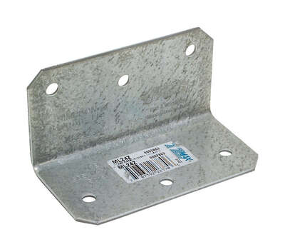 Simpson Strong-Tie  2 in. W x 4 in. L Galvanized Steel  Medium L-Angle