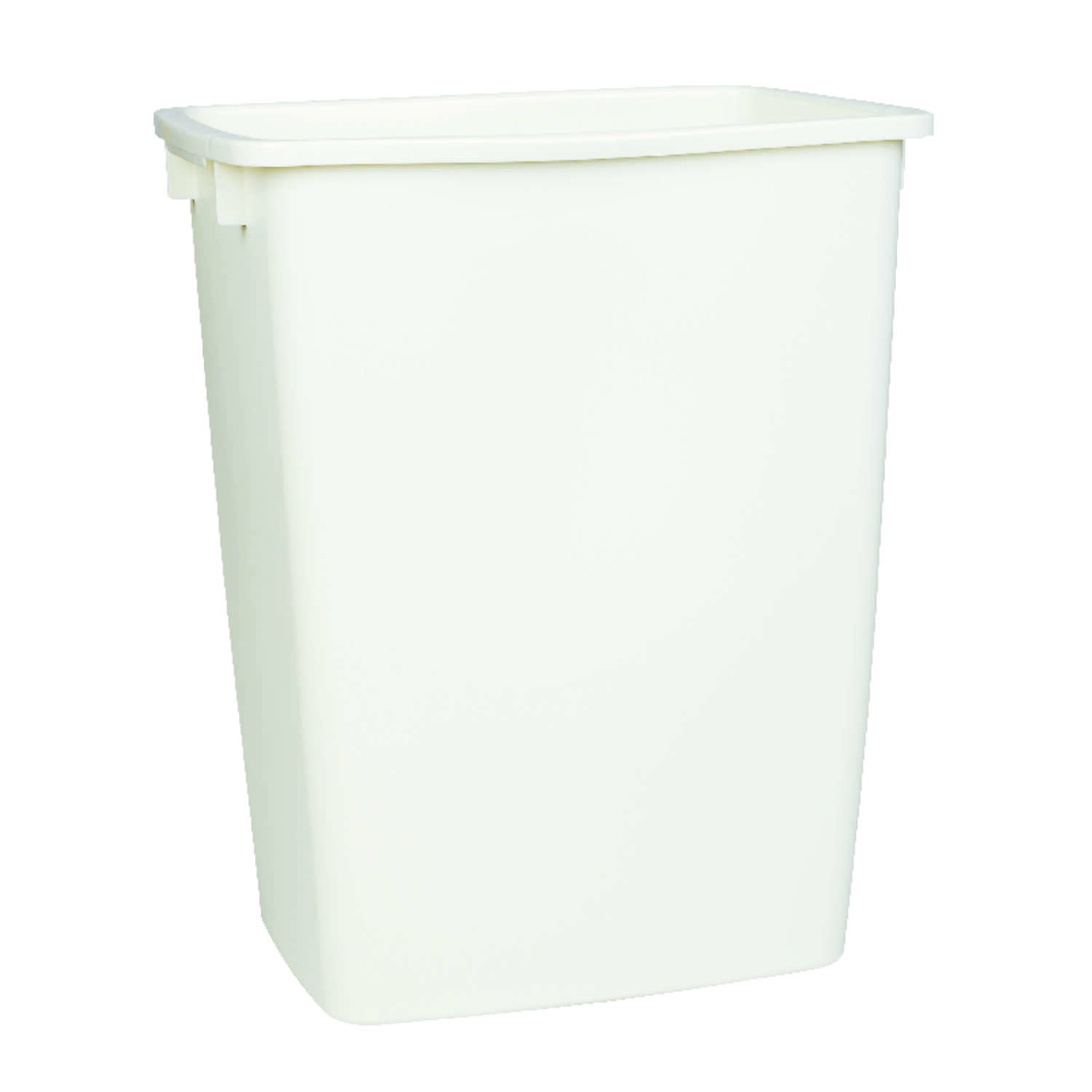 Rubbermaid 9 gal. Bisque Plastic Open Top Trash Can