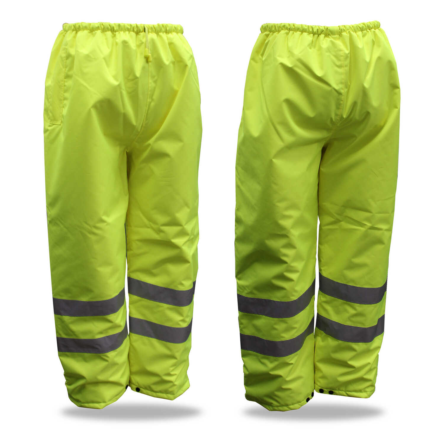 Boss  Hi-Vis Insulated  Yellow  Polyester  Rain Pants