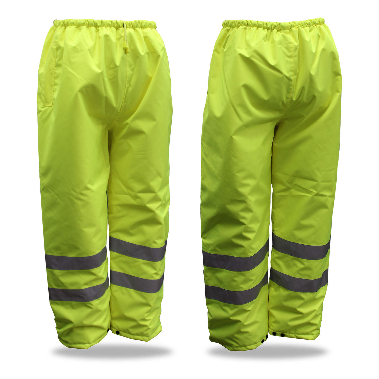 Boss  Hi-Vis Insulated  Yellow  Polyester  Rain Pants  M