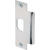 Prime-Line  4.875 in. H x 1.25 in. L Brushed Stainless Steel  Steel  Standard Commercial Strike