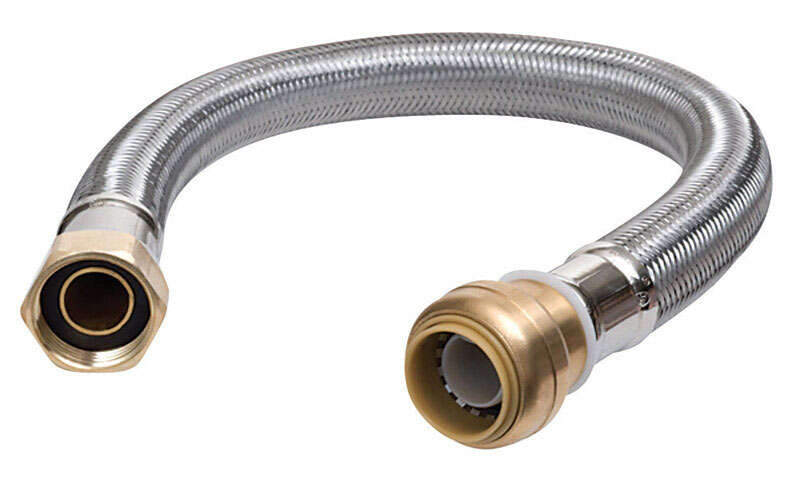 SharkBite  1/2 in. SB   x 3/4 in. Dia. FIP  18 in. Stainless Steel  Supply Line