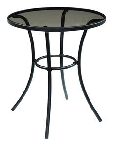 Living Accents  Black  Melrose  Glass  Bistro Table