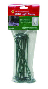 Dyno  Christmas  Light Stakes  Green  25 pk Metal