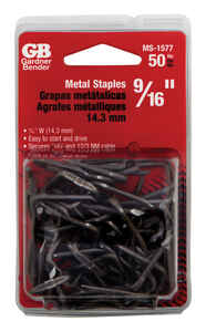 Gardner Bender  9/16 in. W Metal  Insulated Cable Staple  50 pk