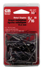 Gardner Bender  9/16 in. W Metal  Insulated 50 pk Cable Staple