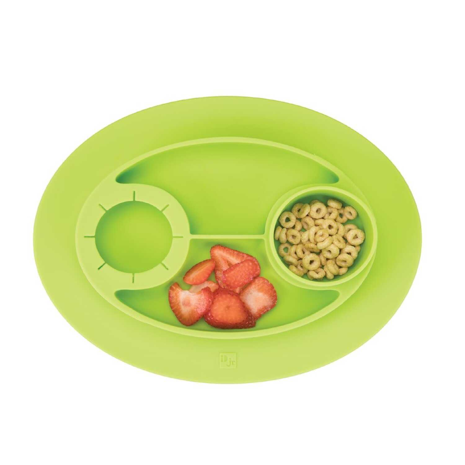 InterDesign  Green  Silicone  Kids  Divided Plate  1 each