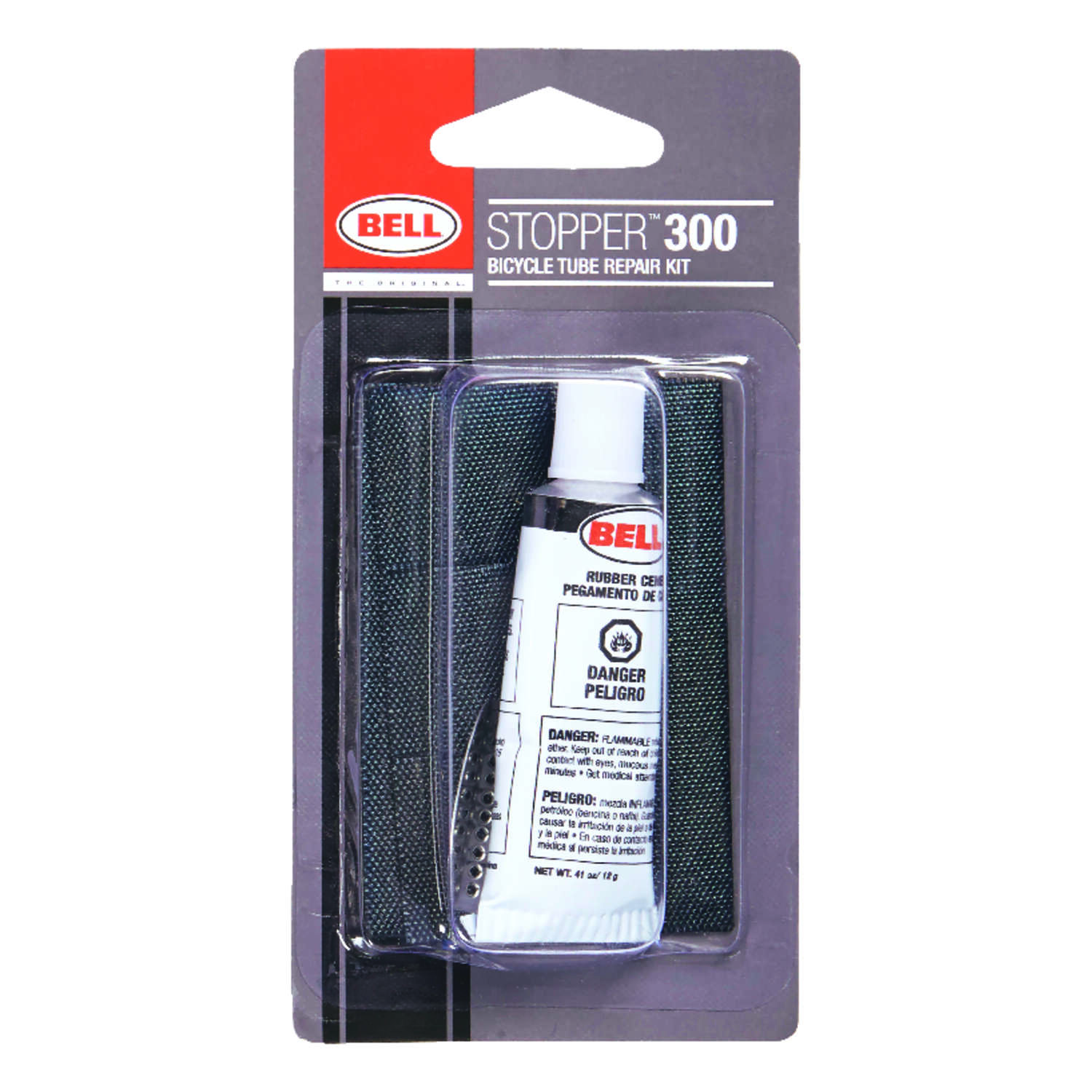 Bell Sports  Sropper 300  Rubber  Bike Tube Repair Kit  Black