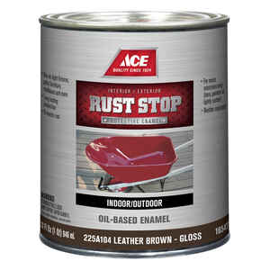 Ace  Rust Stop  Interior/Exterior  Gloss  Brown  1 qt. Rust Prevention Paint  Indoor and Outdoor