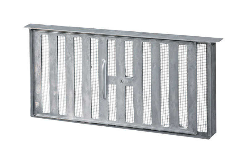 Air Vent  7.8 in. H x 17 in. W Mill  Aluminum  Foundation Vent