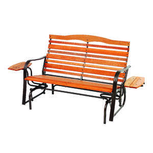 Jack-Post  Woodlawn  Woodlawn  Steel  Double Glider with Trays  2 person