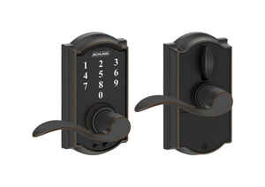 Schlage  Aged Bronze  Steel  Electric Touch Screen Entry Lock