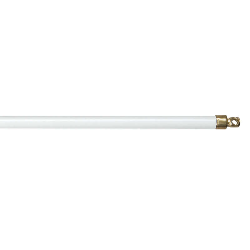 Kenney  White  Sash Rod  19 in. L