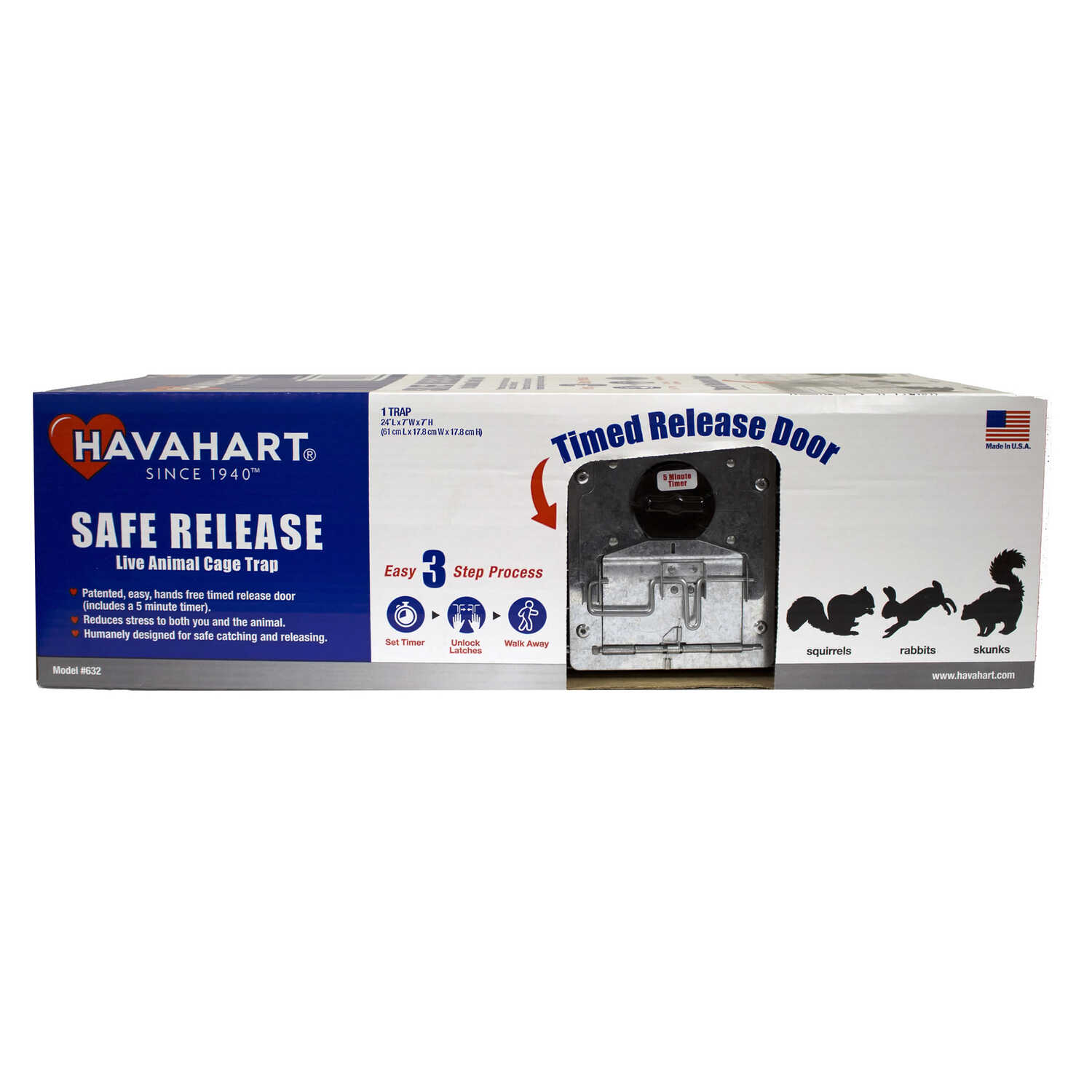 Havahart  Safe Release  Medium  Live Animal Trap  Cage Trap  For Squirrels 1 pk
