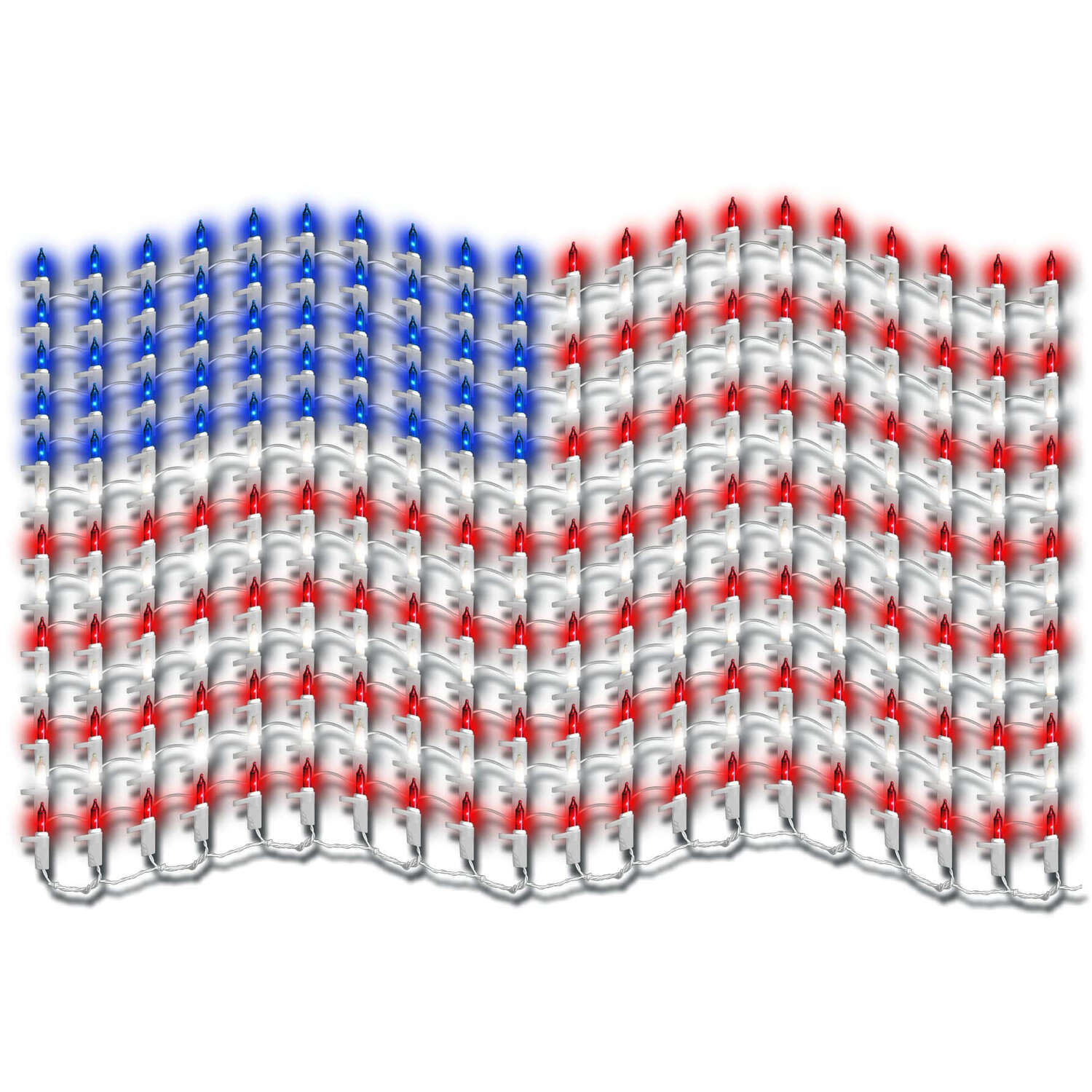 Sienna  American Flag  Holiday Decoration  Metal  1 pk