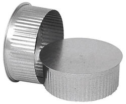 Imperial Manufacturing  5 in. Dia. Galvanized steel  Crimped  Pipe End Cap