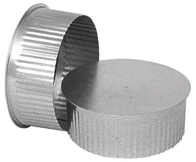 Imperial  5 in. Dia. Galvanized steel  Crimped  Pipe End Cap