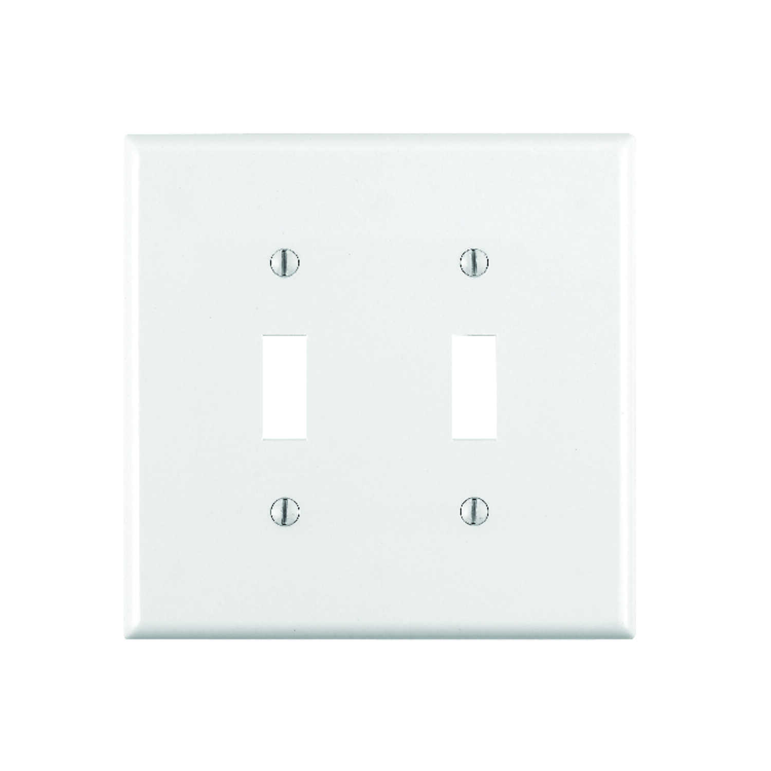Leviton  White  2 gang Toggle  Wall Plate  1 pk Plastic