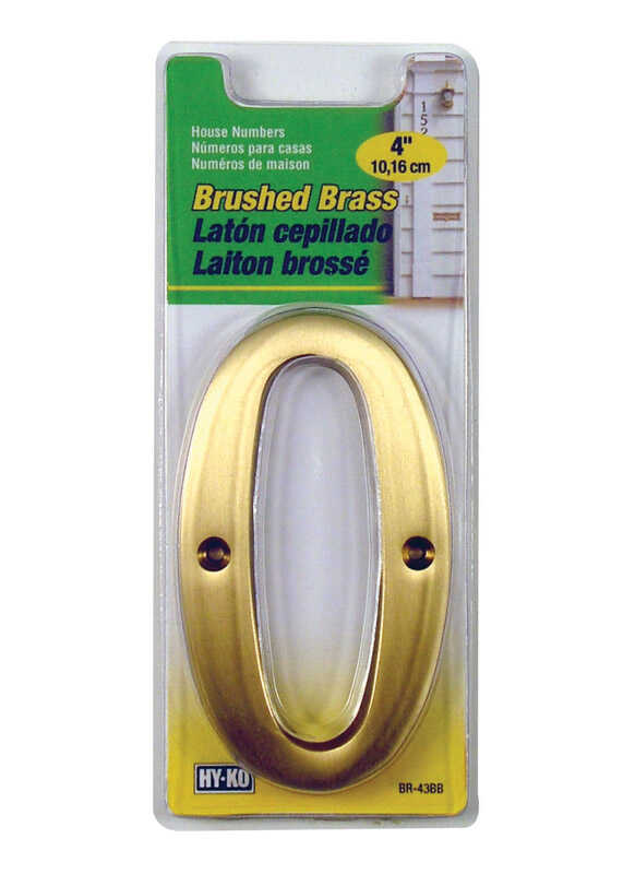 Hy-Ko  Bronze  Brass  Number  Nail-On  0  4 in.