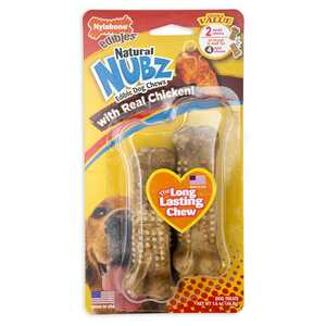 Nylabone  Nubz  Chicken  Dog  Chews  2 pk