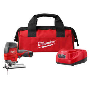 Milwaukee  M12  3/4 in. Cordless  Keyless Pistol Grip  Jig Saw Kit  Kit 12 volt 1.5 amps 2800 spm