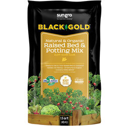 Black Gold  Organic 0.07-0.03-0.03  Raised Bed and Potting Mix  38 qt.
