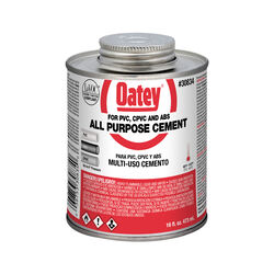 Oatey  Clear  All-Purpose Cement  For CPVC/PVC 16 oz.
