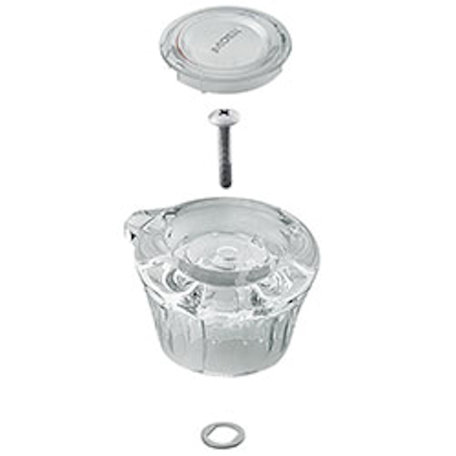 Moen  Knob  Acrylic  Clear  Single  Tub and Shower Handle