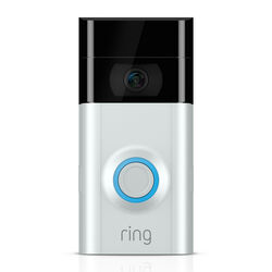 Ring  Satin Nickel  Multicolored  Metal/Plastic  Wireless  Video Doorbell