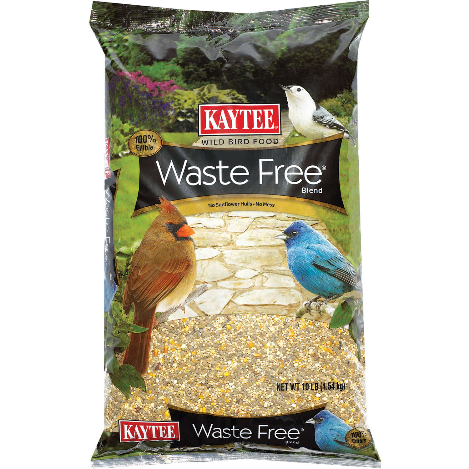 Kaytee  Waste Free  Songbird  Wild Bird Food  Hulled Sunflower Seed  10 lb.