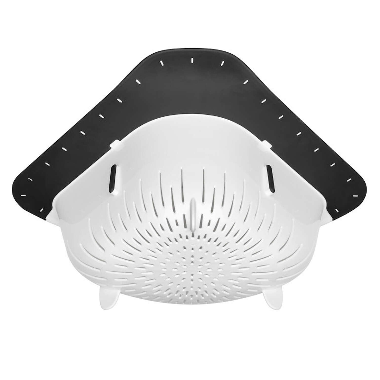 OXO  Good Grips  14 in. W x 10 in. L White/Black  Over the Corner Colander