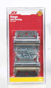 Ace  3 in. L Zinc-Plated  Screen/Storm Self Closing Hinge  2 pk