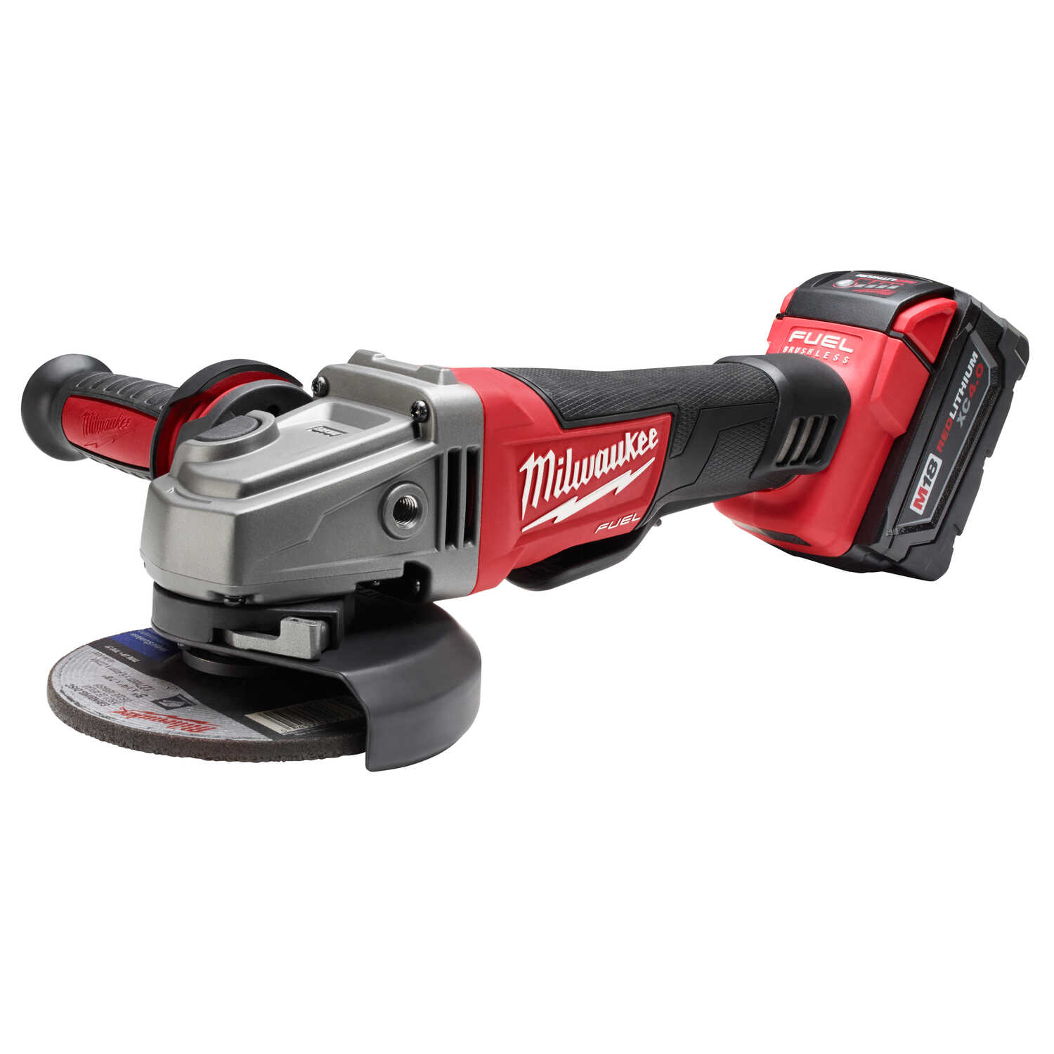 Milwaukee  M18 FUEL  Cordless  18 volt 4-1/2 to 5 in. Angle Grinder  Kit  8500 rpm