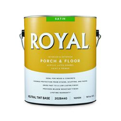 Royal  Satin  Neutral Base  Porch & Floor Paint  1 gal.