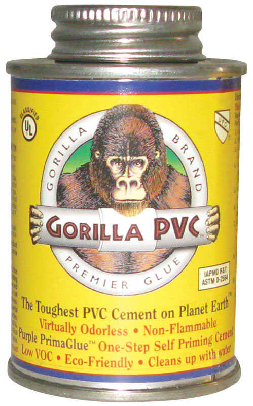 Gorilla PVC  PrimaGlue  Purple  For PVC 4 oz. Primer and Cement