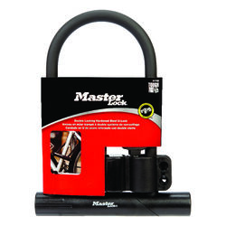 Master Lock 8 in. H x 6-1/8 in. W Steel Double Locking U-Lock 1 pk