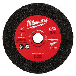 Milwaukee  3 in. Dia. x 3/8 in.  Metal  Cut-Off Wheel  3 pc.