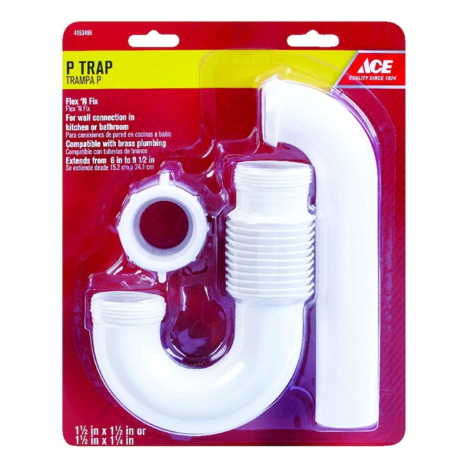 Ace 1 1 2 In Dia Pvc P Trap Ace Hardware