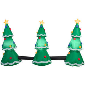 Gemmy  3-Tree Light Show  Christmas Inflatable  Fabric  1  Multicolored