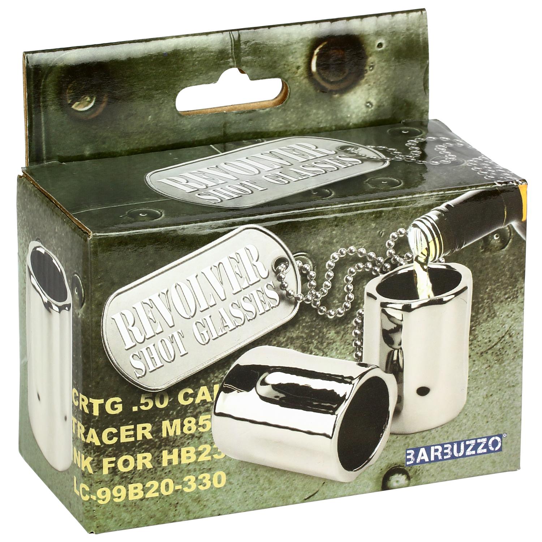 Barbuzzo Revolver Shot Glasses Ceramic 2 pk