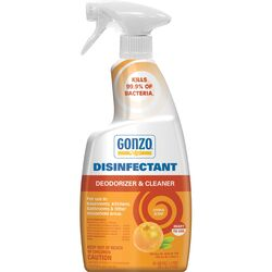 Gonzo  Citrus Scent Disinfectant Deodorizer and Cleaner  24 oz. 1 pk