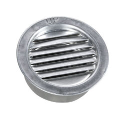 Air Vent  2 in. W x 2 in. L Mill  Silver  Aluminum  Mini Louver