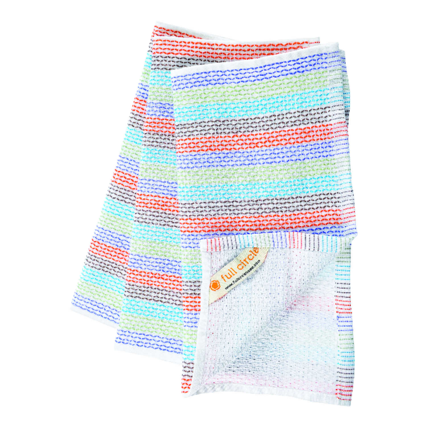 Full Circle  Tidy  Multicolored  Organic Cotton  Dish Towel  3 pk