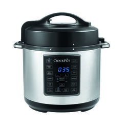 Crock Pot  Crock-Pot  6 qt. Black  Stainless Steel  Programmable Multi-Cooker