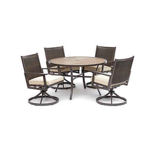 Living Accents  Baystone  5 pc. Brown  Aluminum  Set  Beige