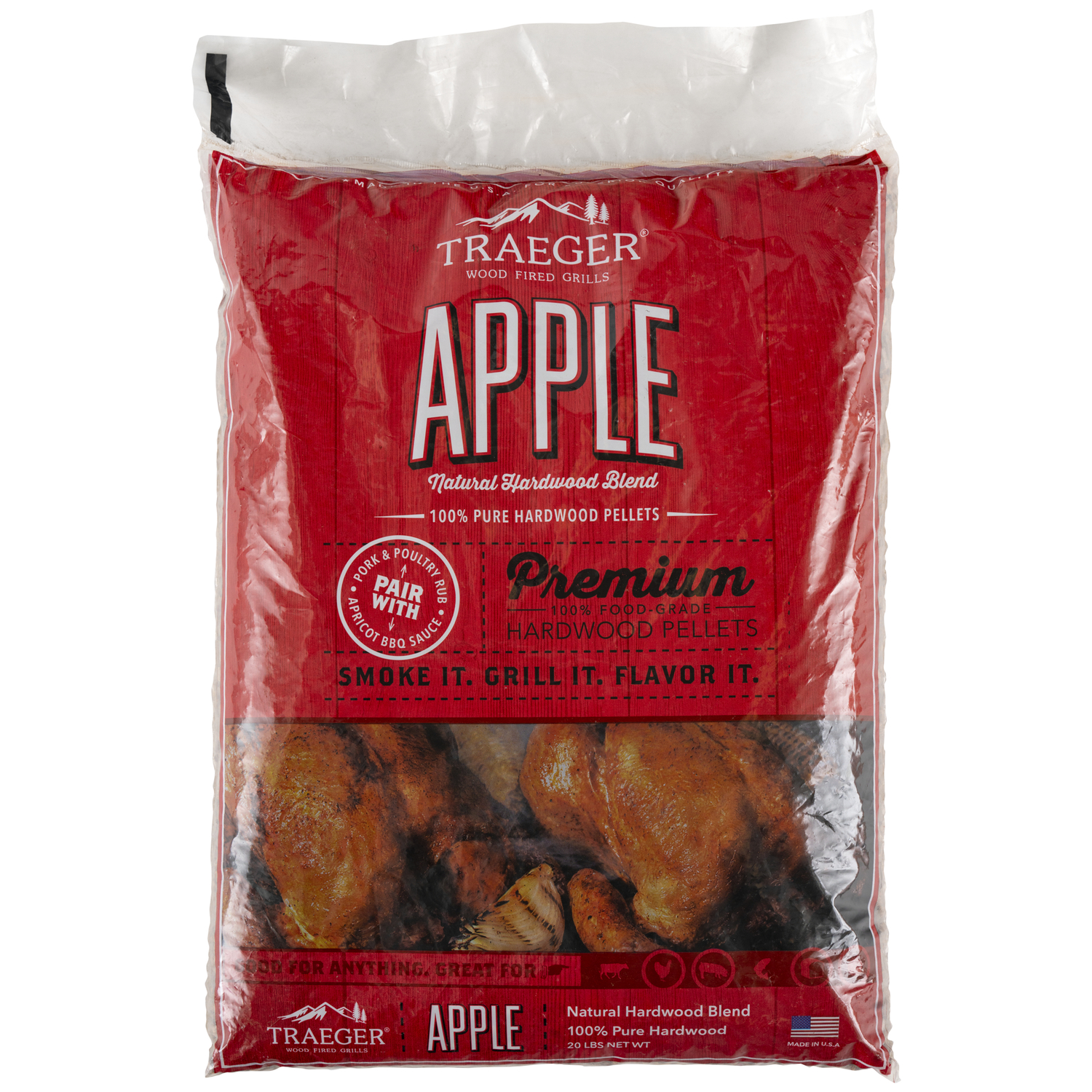 Traeger  Apple  Wood Pellets  20 lb.